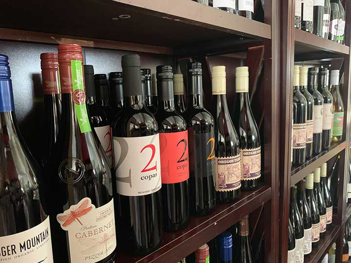 Wine Selection at the Bodega